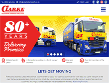 Tablet Preview of clarketransport.co.uk